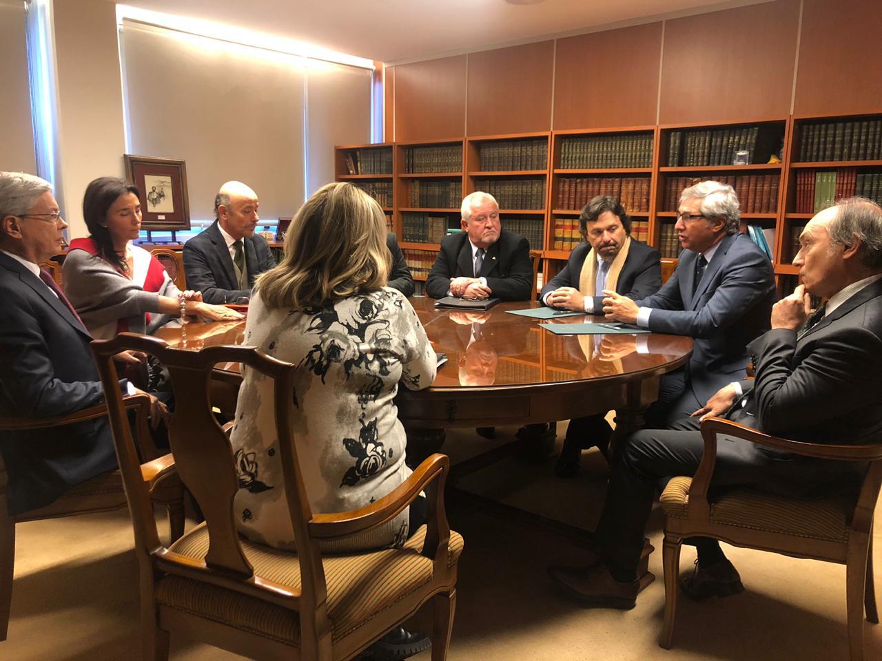 Gustavo Sáenz y los Jefes de la Magistratura