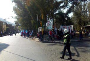 movilizacion en calle san martin